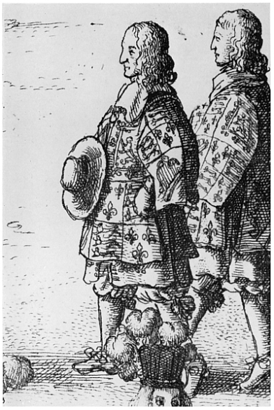 Elias Ashmole, Windsor Herald, in the Grand Procession of the Sovereign and Knights Companions of the Order of the Garter, at Windsor, on 29 May 1671. Enlarged detail from an engraving by Wenceslaus Hollar in E. Ashmole, The Institution, Laws & Ceremonies Of the most Noble Order of the Garter, London, 1672, inserted between pp. 576 and 577
