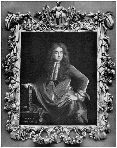 Elias Ashmole; c. 1682. Attributed to John Riley. Frame by Grinling Gibbons Ashmolean Museum