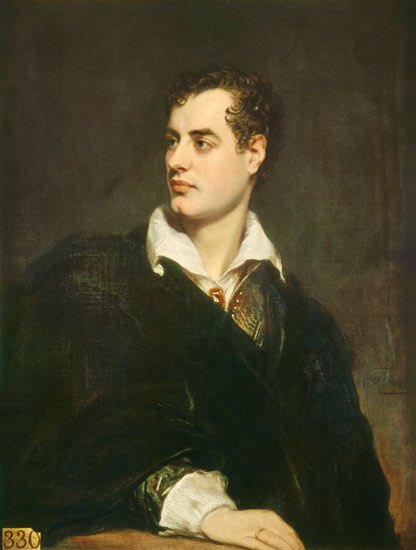 Byron 1824; Public domain via Wikimedia Commons