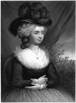 Etching of Fanny Burney