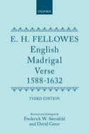 English Madrigal Verse: 1588–1632 (Third Edition)1588–1632