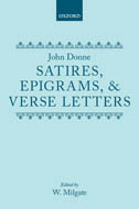 John Donne: The Satires, Epigrams and Verse Letters