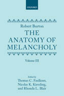 Robert Burton: The Anatomy of Melancholy, Vol. 3: Text