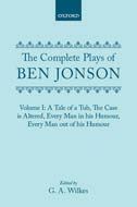 The Complete Plays of Ben Jonson, Vol. 1