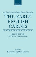 The Early English Carols (Second Revised Edition)