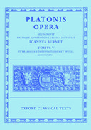 Oxford Classical Texts: Platonis Opera, Vol. 5: Tetralogia IX Definitiones et Spuria