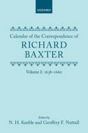 Calendar of the Correspondence of Richard Baxter, Vol. 1: 1638–16601638–1660