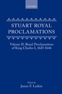 Stuart Royal Proclamations, Vol. 2: Royal Proclamations of King Charles I 1625–1646Royal Proclamations of King Charles I 1625–1646