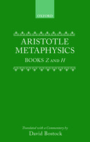 Clarendon Aristotle Series: Metaphysics: Books Z and HBooks Z and H