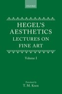 Hegel's Aesthetics: Lectures on Fine Art, Vol. 1Lectures on Fine Art