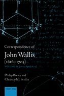 Correspondence of John Wallis (1616–1703), Vol. 4: 1672–April 1675