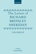 The Letters of Richard Brinsley Sheridan, Vol. 3