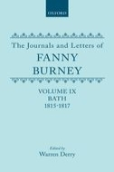 The Journals and Letters of Fanny Burney (Madame d'Arblay), Vol. 9: Bath 1815–1817: Letters 935–1085ALetters 935–1085A