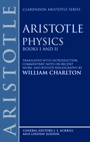 Clarendon Aristotle Series: Physics: Books I and IIBooks I and II