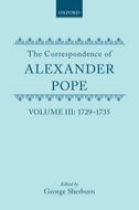 The Correspondence of Alexander Pope, Vol. 3: 1729–1735