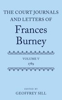 The Court Journals and Letters of Frances Burney, Vol. 5: 1789