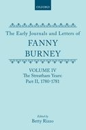 The Early Journals and Letters of Fanny Burney, Vol. 4: The Streatham Years, Part II, 1780-1781The Streatham Years, Part II, 1780-1781