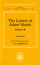 Oxford Medieval Texts: The Letters of Adam Marsh, Vol. 2
