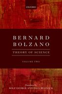 Bernard Bolzano: Theory of Science, Vol. 2