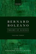 Bernard Bolzano: Theory of Science, Vol. 3