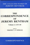 The Collected Works of Jeremy Bentham: The Correspondence of Jeremy Bentham, Vol. 2: 1777–801777–80